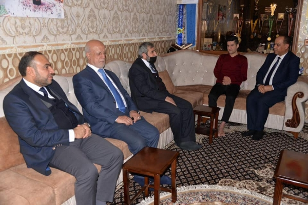Secretary-General of the Kurdistan Islamic Union visits soccer star Diyar Rahman