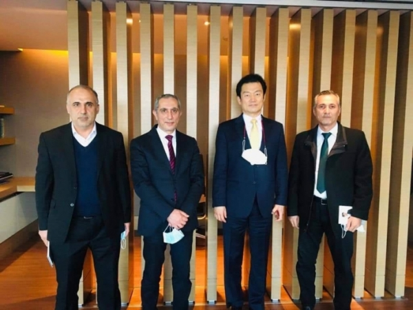 A delegation of the Kurdistan Islamic Union visits the South Korean consulate in Erbil