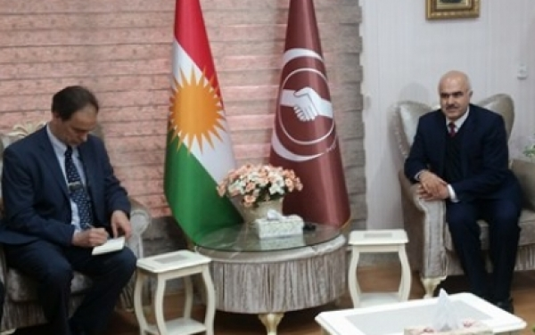 Sulaymaniyah ... Kurdistan Islamic Union receives a delegation of the United Nations