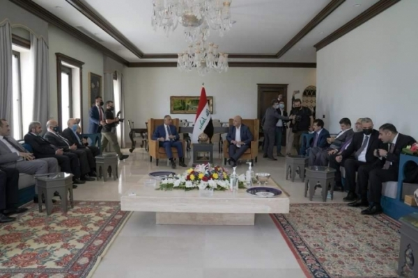 Secretary-General of the Kurdistan Islamic Union participates in the meeting of Barham Salih and Mustafa Al-Kadhemi