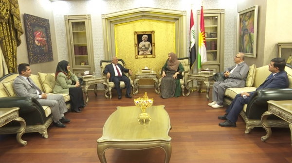 A delegation from the Kurdistan Islamic Union visits the Kurdistan Parliament