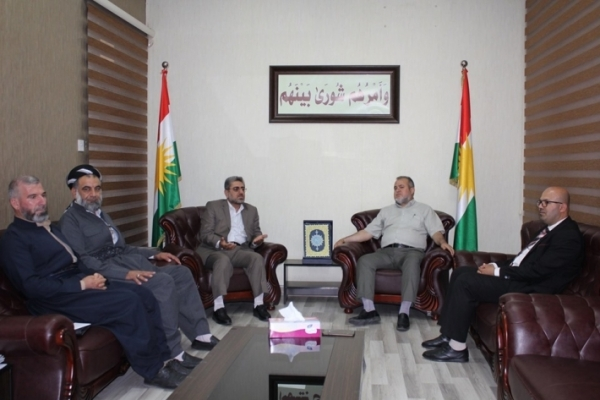 Kurdistan Islamic Union bloc receives a delegation from the Islamic Group