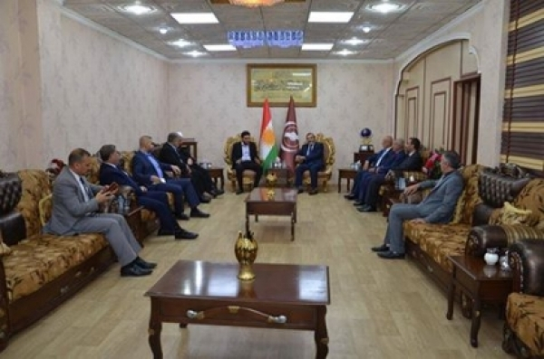 Secretary-General of the Kurdistan Islamic Union receives a delegation of the Sadrist movement
