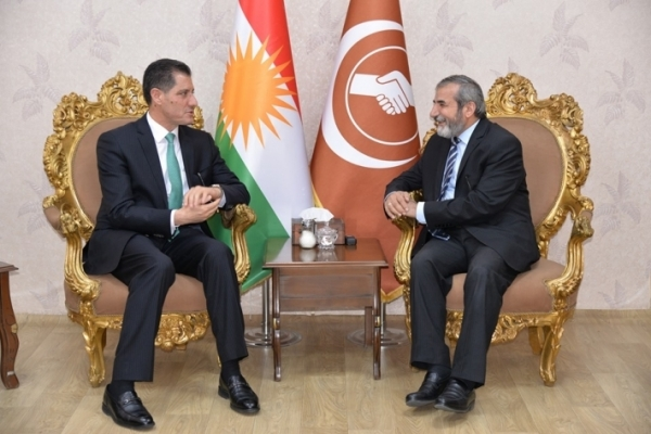 Secretary-General of the Kurdistan Islamic Union receives the Iraqi Minister of Planning