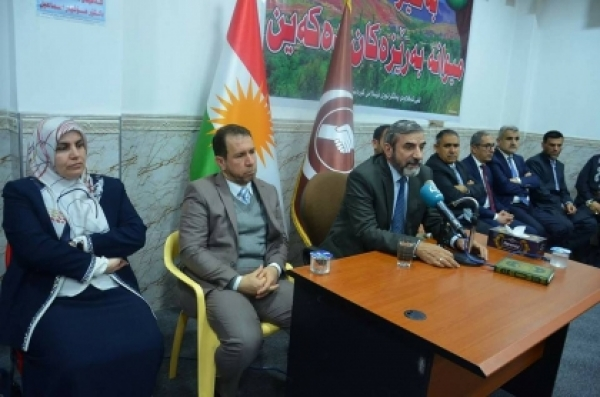 Shaqlawa... Secretary-General opens the new building of the Kurdistan Islamic Union branch