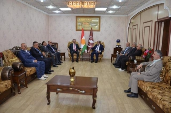A high-level delegation of the PUK visits the Kurdistan Islamic Union