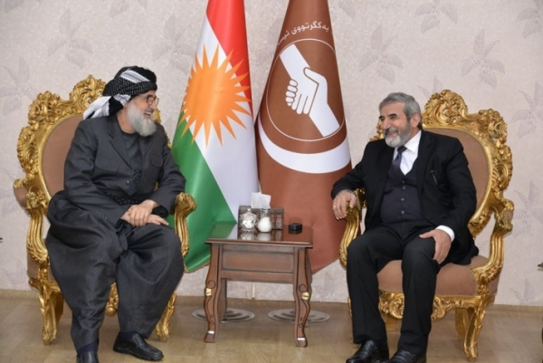Secretary-General of Kurdistan Islamic Union receives the head of the Islamic Movement in Kurdistan