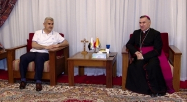 A delegation of the Kurdistan Islamic Union visits the Church of Ankawa