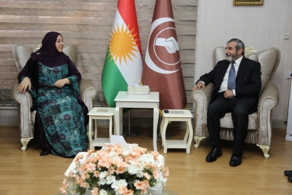 Secretary-General of the Kurdistan Islamic Union receives Speaker of Kurdistan Parliament
