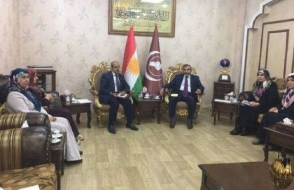 Secretary-General receives a number of the Kurdistan Islamic Union cadres