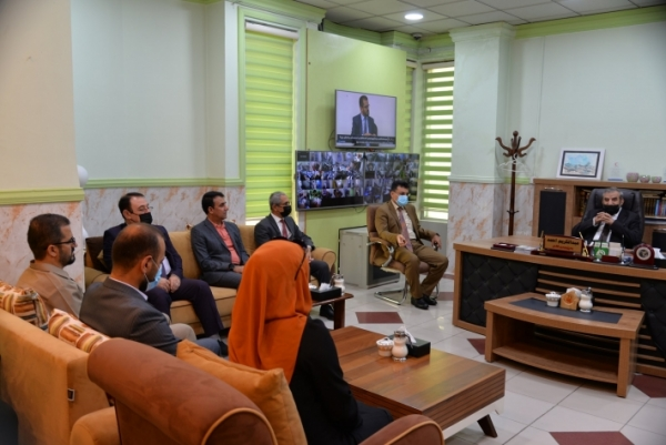 Secretary-General of the Kurdistan Islamic Union visits Speda satellite channel