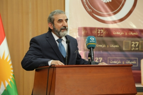 Secretary-General of the Kurdistan Islamic Union participates in honoring a number of writers