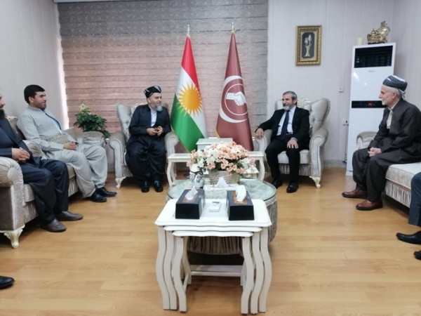 Secretary-General of the Kurdistan Islamic Union receives a senior delegation from the Kurdistan Islamic Group