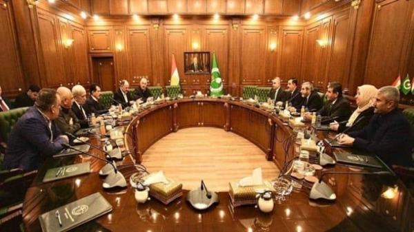 A meeting between the Kurdistan Islamic Union and the Patriotic Union of Kurdistan in Sulaymaniyah