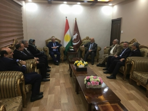 Kurdistan Islamic Union receives a delegation of the Kurdish National Council in Syria