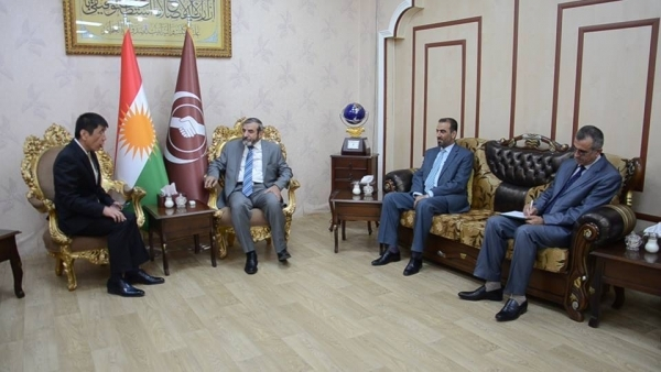 Secretary-General of the Kurdistan Islamic Union receives the Japanese Consul in Erbil