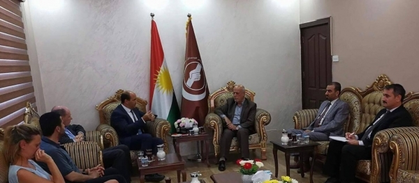 A delegation of the British Embassy in Iraq visits the Kurdistan Islamic Union
