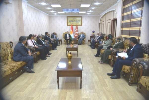 Kurdistan Islamic Union receives a delegation from the Democratic People's Party